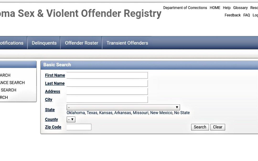 Tulsa Sex Crimes Attorney | Understanding Oklahoma's Sex Offender Registry | Part 1: The Basics